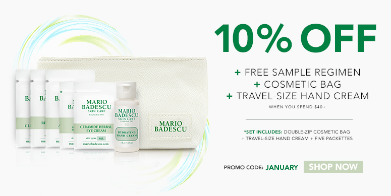 Receive a free 7- piece bonus gift with your $40 Mario Badescu purchase