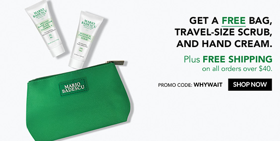Receive a free 3-piece bonus gift with your $40 Mario Badescu purchase