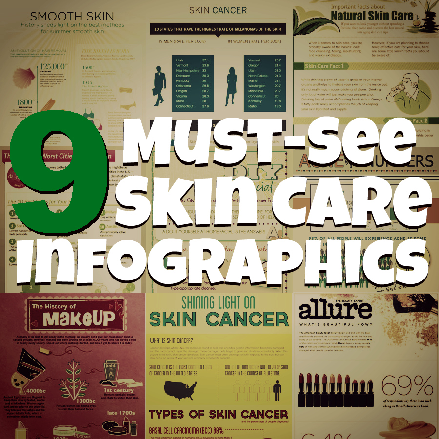 9 Must-See Skin Care Infographics