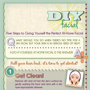 DIY Facial Infographic