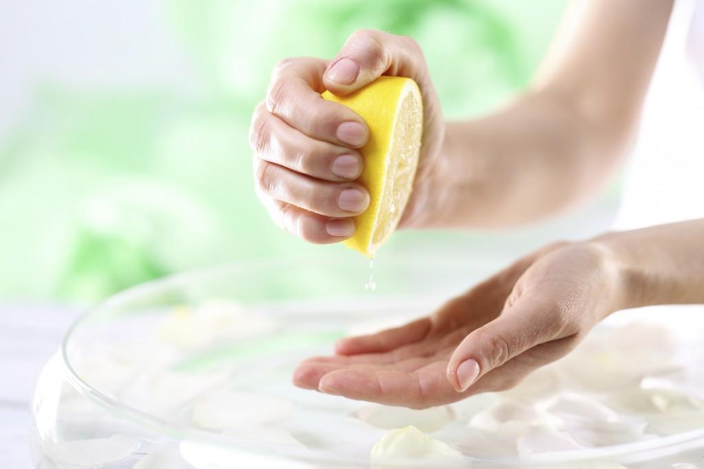 lemon juice on skin