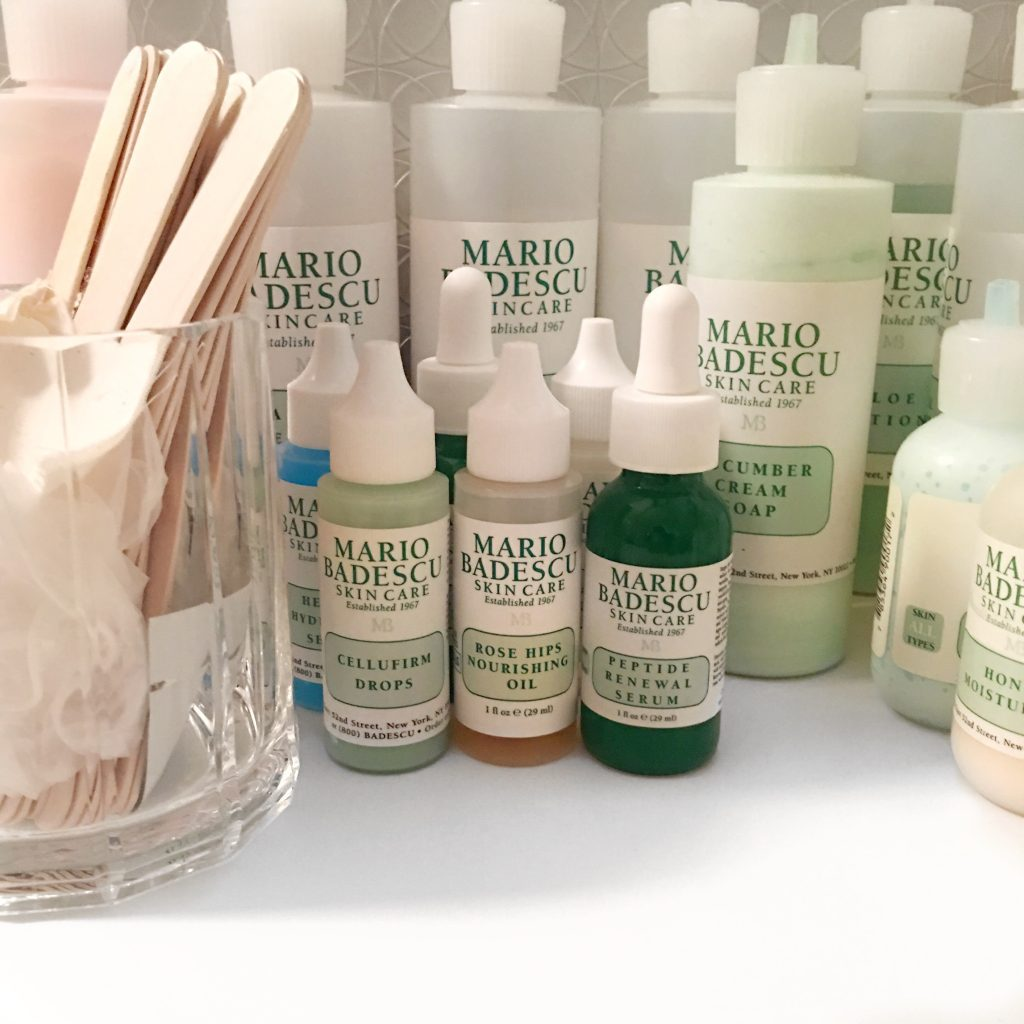 Mario Badescu facial room detail