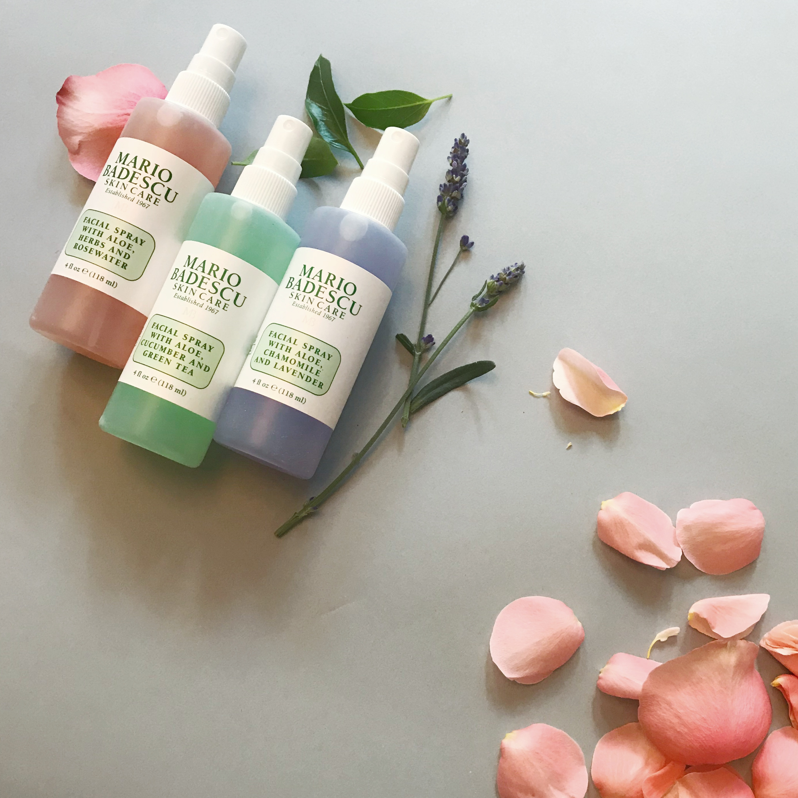 What's the difference between all three Mario Badescu Facial Sprays