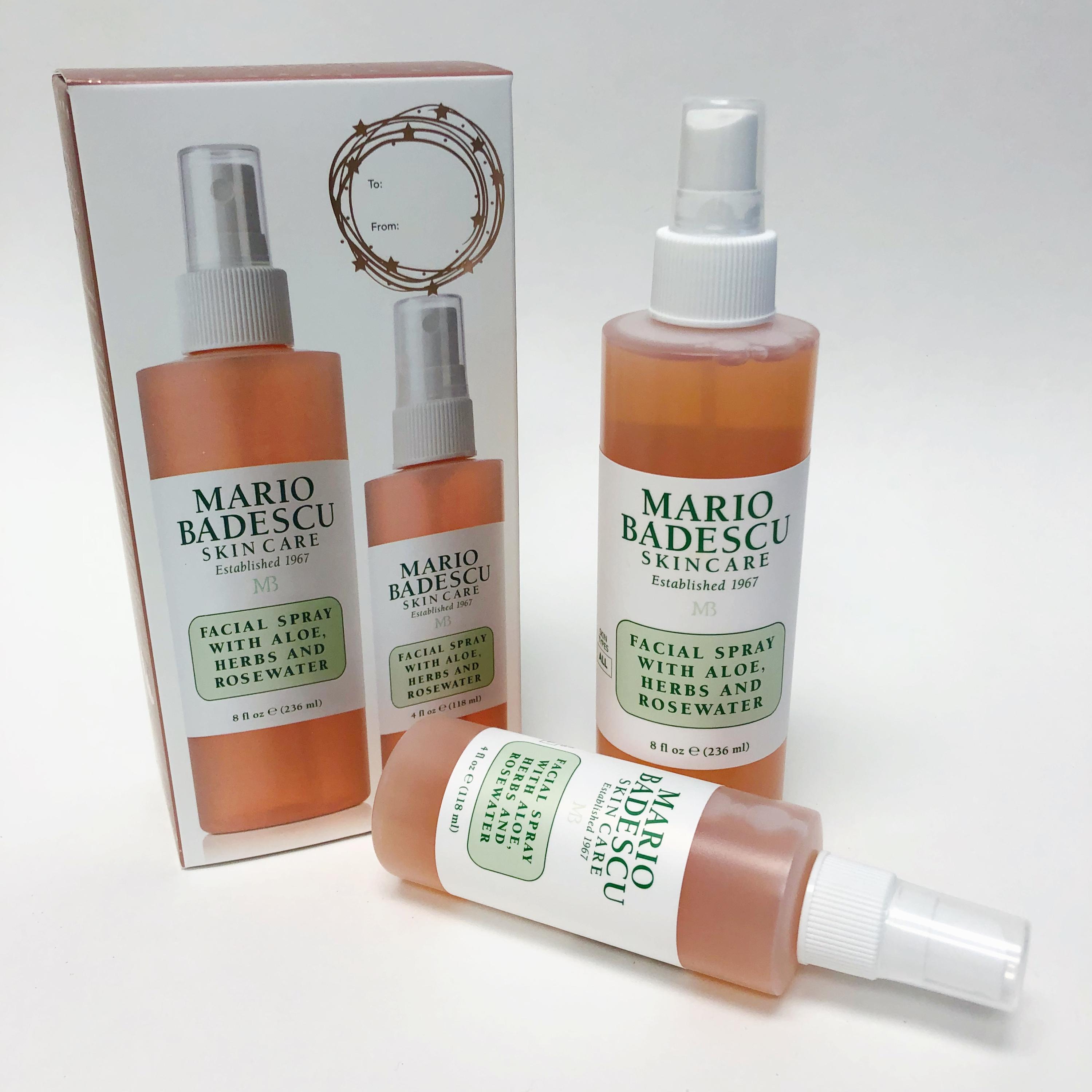 Mario Badescu Rosewater Facial Spray Holiday Gift Set Duo