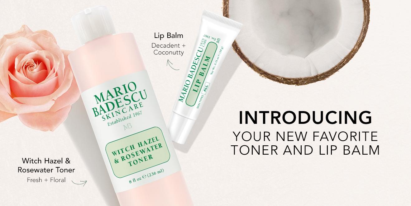 New Toner and Lip Balm