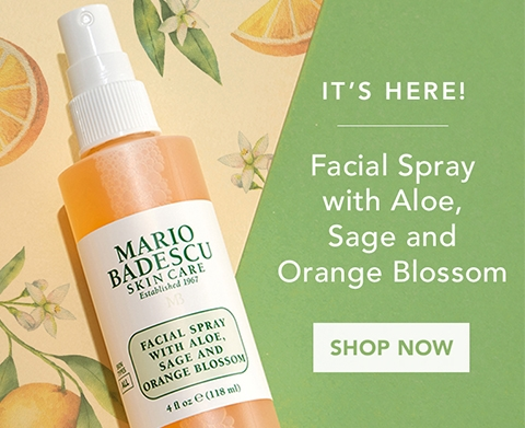 Shop Our Facial Spray with Aloe, Sage and Orange Blossom