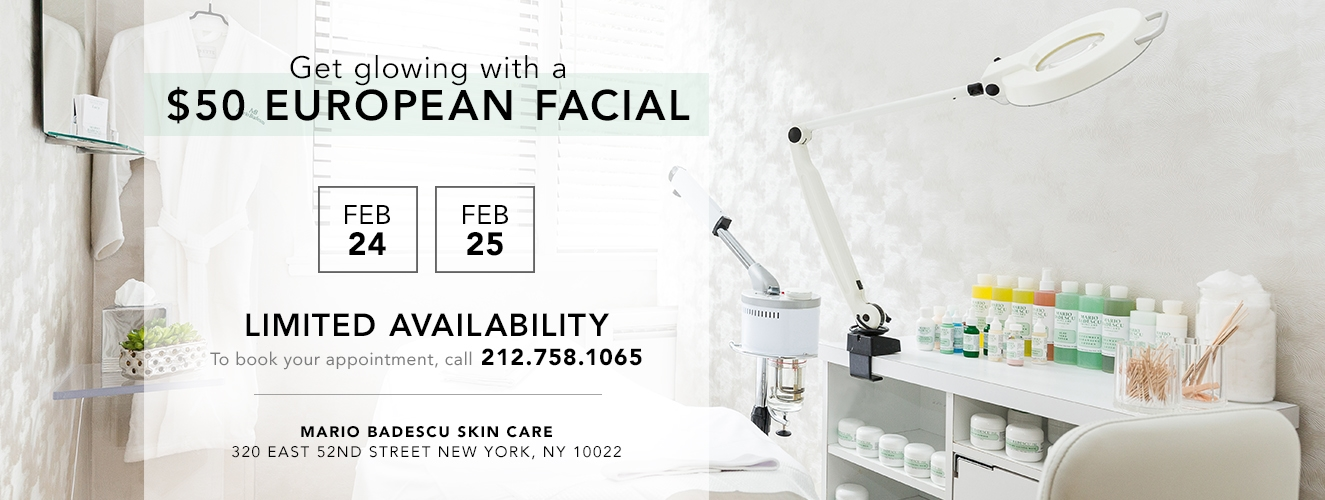 $50 Facials Feb 24, 25