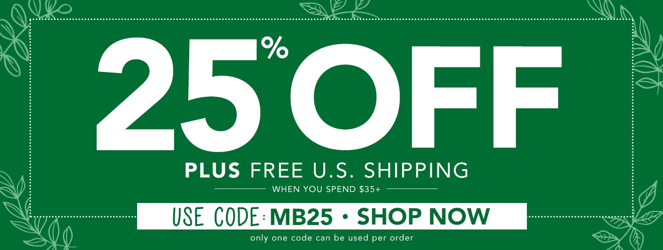 Save 25% OFF with promo code MB25